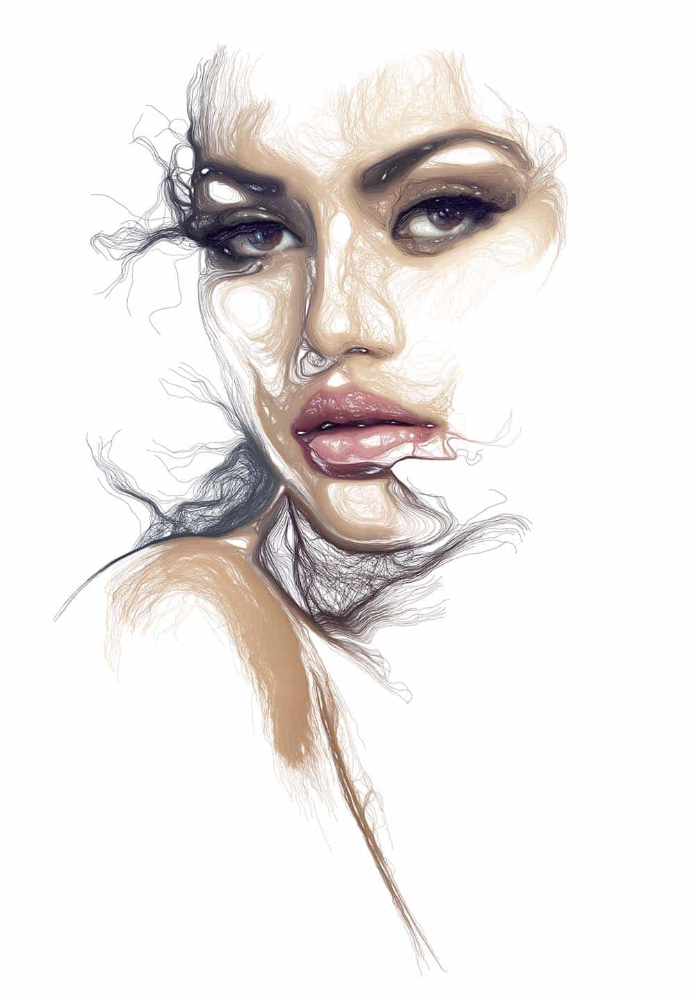 Line Art Effect Photoshop : Watercolor photoshop lineart inspirate
